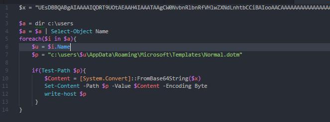 Normal.dotm script