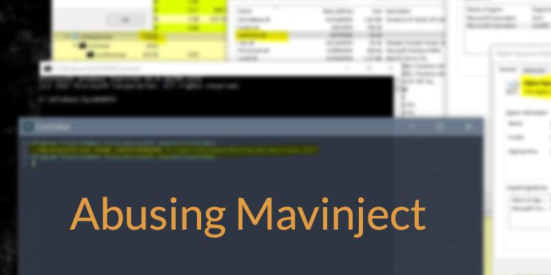 De un Falso Positivo a un Verdadero Positivo: la historia de Mavinject.exe, el Injector de Microsoft