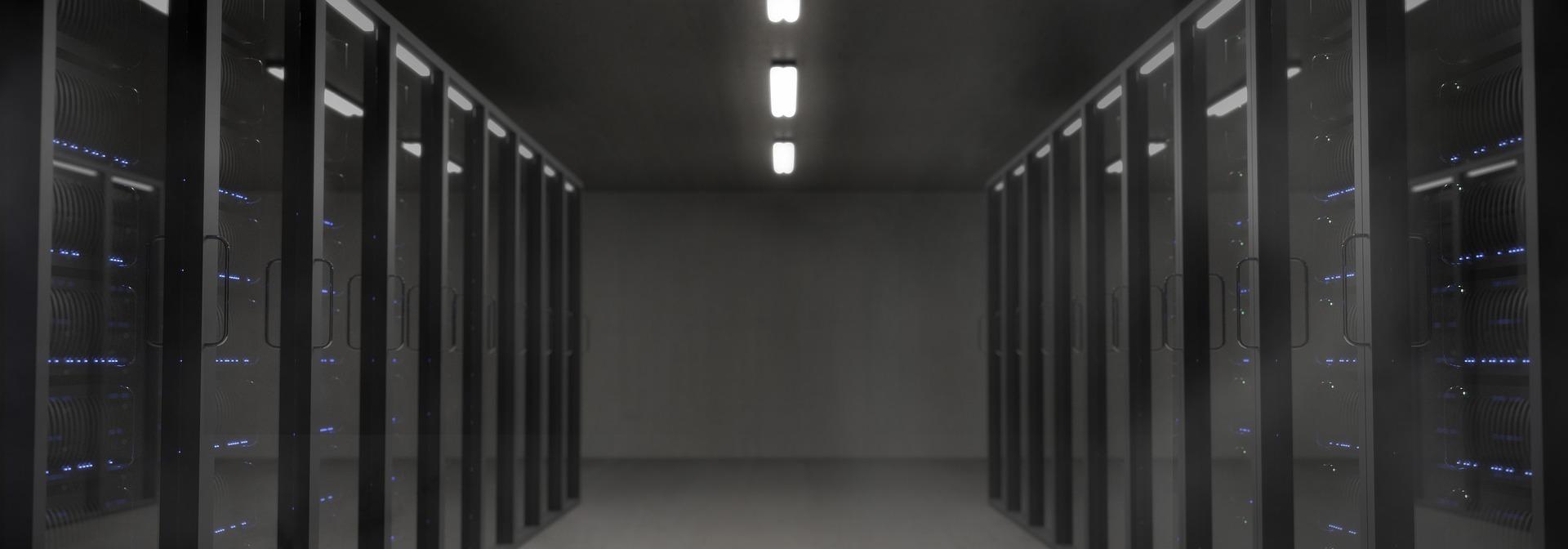 Pasillo de un datacenter