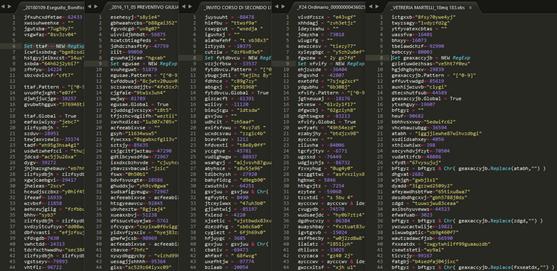 Captura de pantalla de un lote de de 5 archivos VBS maliciosos analizados