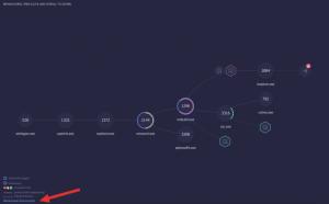 Copia de pantalla del árbol de comportamiento de ReaQta-Hive indicando la posición del acceso a la leyenda de símbolos